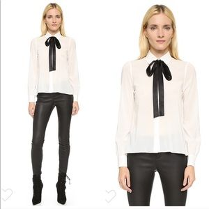 """Alice + Olivia """"Janis"""" swing button down shirt S"""